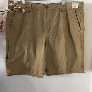 Khaki Tan Men's Cotton Outdoor Cargo Shorts 42
